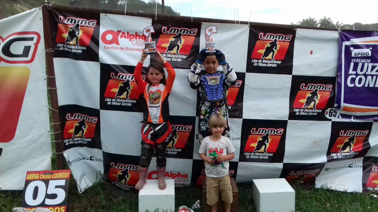 Podium da categoria Junior
